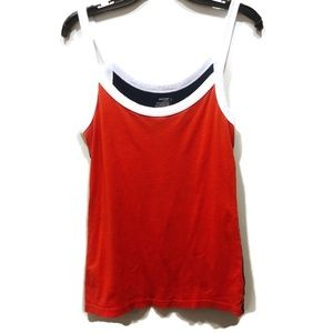 Old Navy Color Block Tank Top Red Navy White L